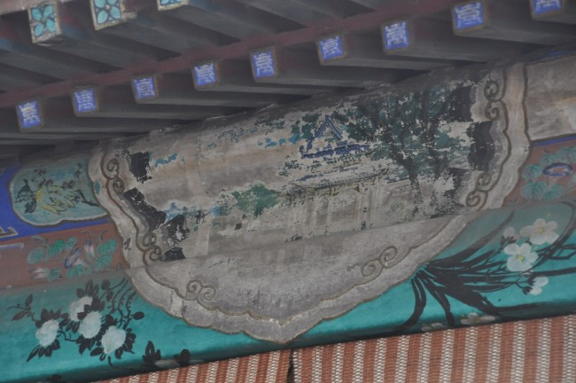 Unrestored painting in the Long Corridor, Summer Palace