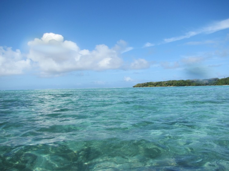 The site of first landing as shot from the lagoon off Nagigi, Fiji (Photo: Joshua Drew)