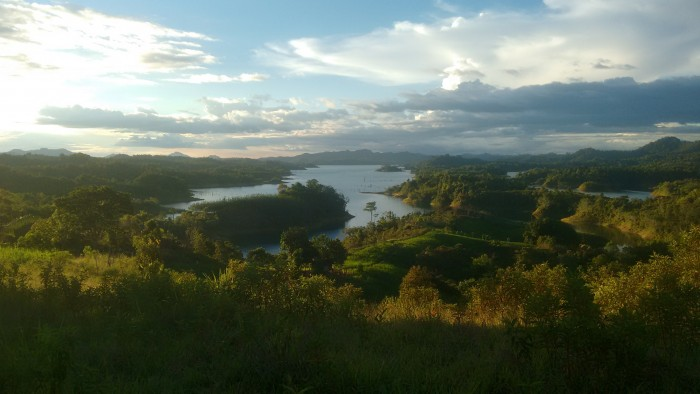 View of Batang Ai dam from the community lands.