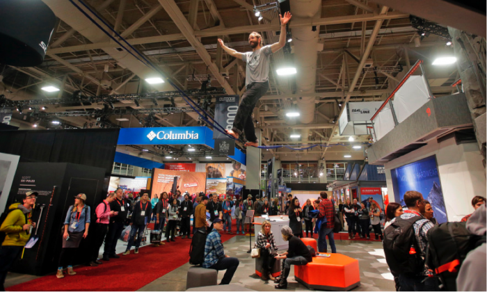The Outdoor Retailer trade show in Salt Lake City (© Rick Bowmer, The Associated Press)