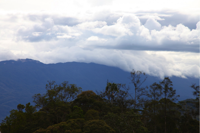 Cloud formation over the Gigira range (photograph by the author)