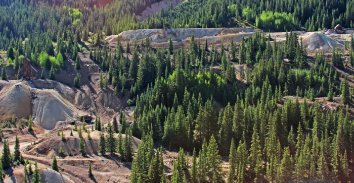 Figure 3: Abandoned mine lands at Red Mountain Mining District near Ouray, Colorado (© Jerry K. Jacka)