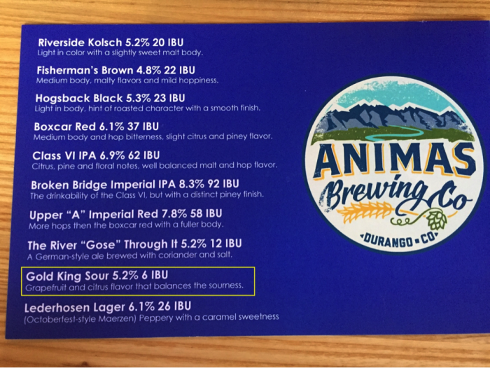 Figure 5: Animas Brewing Company's response to the Gold King Mine spill (© Jerry K. Jacka).